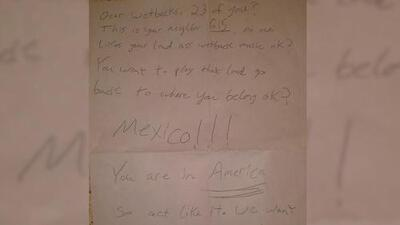 """""""Dear Wetbacks"""": this Hispanic family found a racist letter on their front door"""