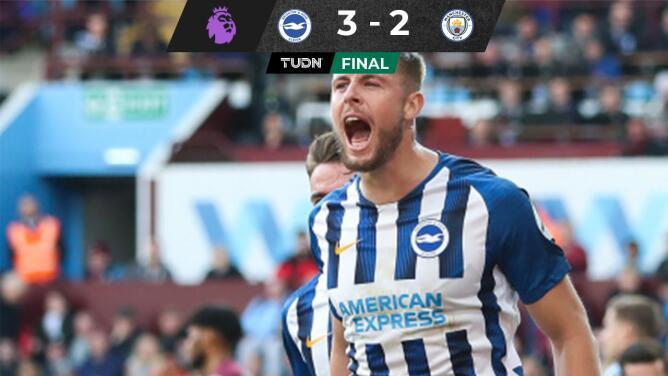 El Brighton pisa la corona del Manchester City