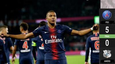 Neymar, el gran ausente en la goleada del PSG sobre Amiens