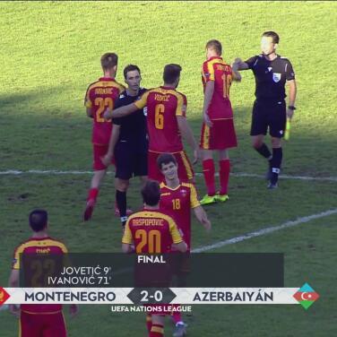 Error y 'oso' del portero de Azerbaiyán dan triunfo 2-0 a Montenegro