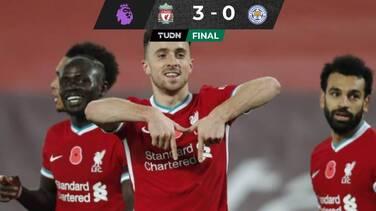 Liverpool venció al Leicester y alcanzó al Tottenham en la Premier