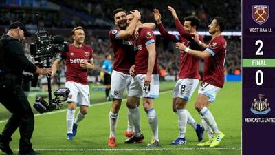 Con un discreto Chicharito, West Ham venció a Newcastle