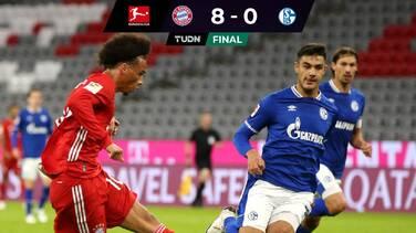 Bayern Munich no tiene piedad de Schalke 04 y lo aplasta 8-0