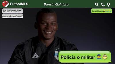 Policía y experto en salsa choke, Darwin Quintero se confiensa en el Chat de la MLS