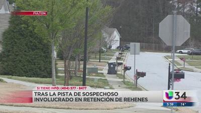 Buscan a sospechoso tras situación con rehenes cerca de Atlanta