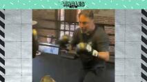 ¡Beast mode! De la Hoya demuestra su rapidez a sus 48 años