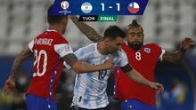 Pese al golazo de Messi, Argentina apenas iguala ante Chile