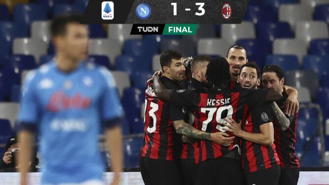 Napoli e Hirving Lozano caen ante Ibra y el Milan