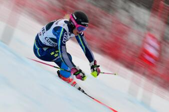 Las impactantes imágenes que brinda la Copa Mundial de Esquí Alpino en Francia