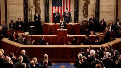 Macron da un discurso en el Congreso marcando sus profundas diferencias con Trump entre aplausos demócratas