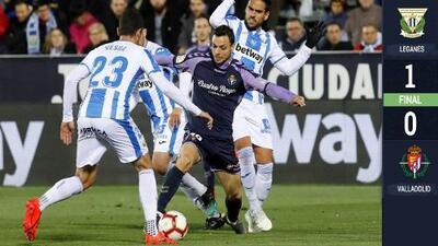 Diego Reyes se queda en la banca del Leganés, que derrotó de último minuto al Valladolid
