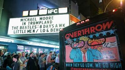 """Michael Moore estrena en Nueva York su película """"sorpresa"""" sobre Donald Trump"""