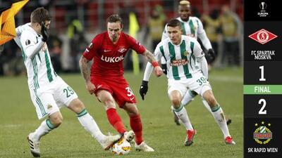 El Spartak Moscú cayó contra el Rapid Wien y complicó su futuro en la Europa League