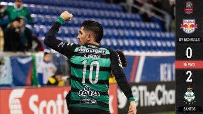 Santos Laguna 'congeló' a Red Bulls y pone pie y medio en las semifinales de la Liga de Campeones