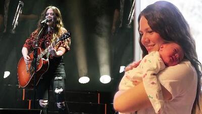 """Joy sale deprisa de uno de sus conciertos para ir a casa a cuidar de su recién nacida: """"Me toca relevo"""""""
