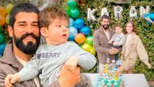 Burak Özçivit, protagonista de Amor Eterno, celebra los 2 años de su hijo con globos y un tierno pastel