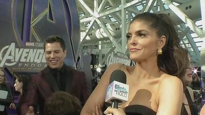 Como la fan #1, Ana Bárbara presume sus fotos con estrellas de Hollywood en el estreno de 'Avengers: Endgame'