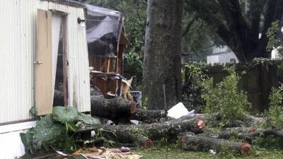 La tormenta Gordon se cobra la vida de un niño en una casa tráiler de Florida