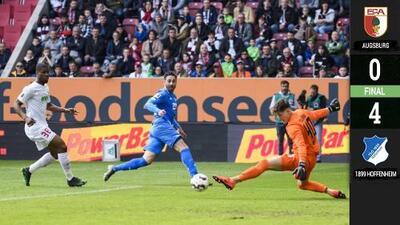 Triplete de Belfodil acerca al Hoffenheim a puestos europeos y al Augsburg al descenso