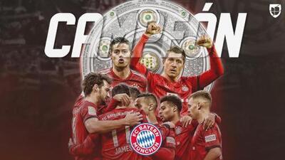 Der Meister! El Bayern Munich logró su séptima Bundesliga al hilo