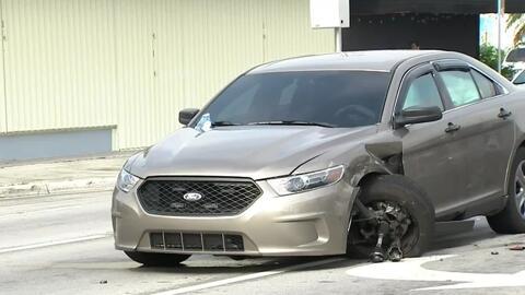 Un policía se recupera de varias lesiones tras un accidente de tránsito en el suroeste de Miami