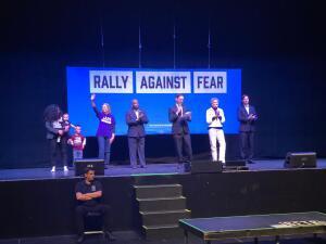 """En fotos: La manifestación """"unidos contra el miedo"""" o rally against fear"""