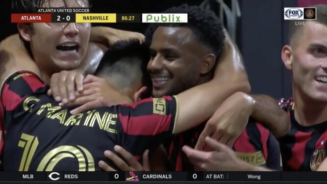 'Cubo' Torres y 'Pity' Martínez se fusionan y con un golazo Atlanta United marca el segundo