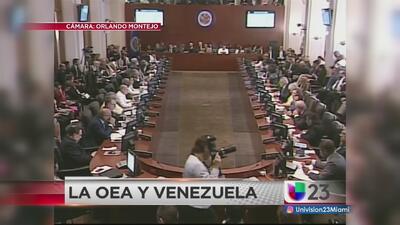 OEA ratifica aplicación de Carta Democrática en Venezuela