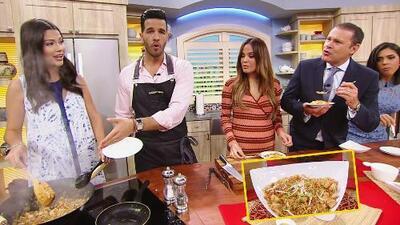 Ana Patricia en la cocina: esta vez nos deleitó a todos con un exquisito plato de arroz frito
