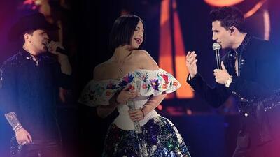 Ángela Aguilar brilla flanqueada por Pipe Bueno y Christian Nodal en un homenaje a la música mexicana