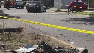 Video de seguridad capta el momento del trágico choque entre un futbolista mexicano y unos recién casados