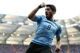 En fotos: Uruguay venció 1-0 a Arabia Saudita y confirmó su paso a los octavos de final