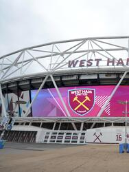 LONDON, ENGLAND - MARCH 16: General view outside the stadium prior to the Premier League match between West Ham United and Huddersfield Town at London Stadium on March 16, 2019 in London, United Kingdom. (Photo by Tony Marshall/Getty Images)