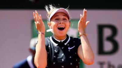 Futura estrella: Anisimova, de 17 años, eliminó a Halep y avanzó a Semis en Paris