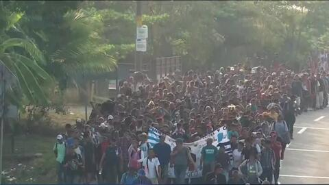 Cubans refugees desperately trying to make their way through Mexico