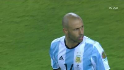 Goooolll!!! Javier Mascherano anota su penalti para el Argentina