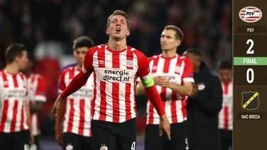 ¡Y sin el Chucky! El PSV pasó sobre el NAC Breda con tranquilidad
