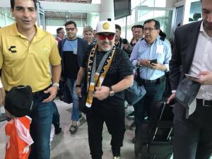 En fotos: la llegada de Diego Maradona a Culiacán para dirigir a Dorados