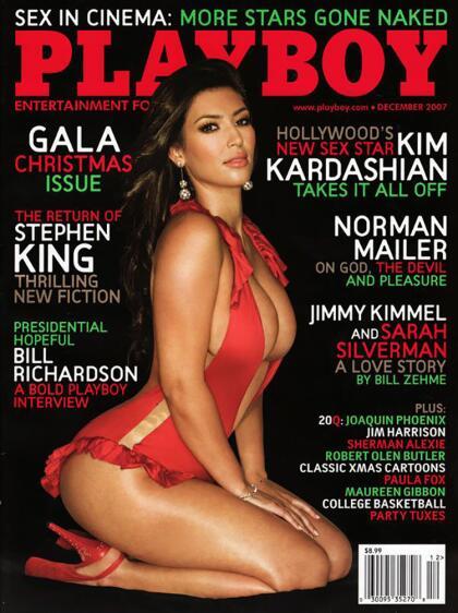 """En diciembre de 2007, la revista  <b><a href=""""https://www.playboy.com/profile/kim-kardashian"""" target=""""_blank"""">Playboy</a></b> tuvo en su portada a Kim Kardashian."""