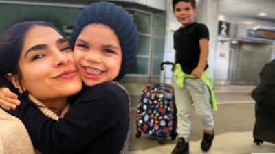 En su primer día de clases Matteo le hizo algo inesperado a sus padres, Alejandra Espinoza y Aníbal Marrero