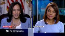 """""""No he terminado"""", el momento viral en el que Kamala Harris interrumpe a Ilia Calderón durante una entrevista"""