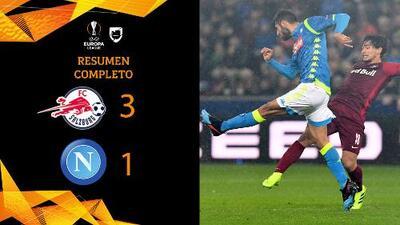 Salzburgo 3-1 Napoli - GOLES Y RESUMEN - VUELTA - OCTAVOS DE FINAL - UEFA Europa League