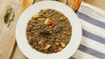Rituales de fin de año: sopa de lentejas