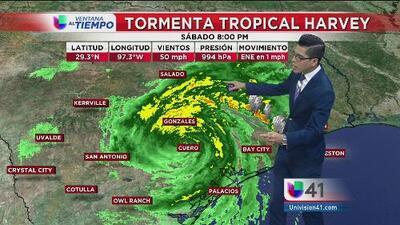 Precipitaciones intensas en San Antonio por la tormenta tropical Harvey