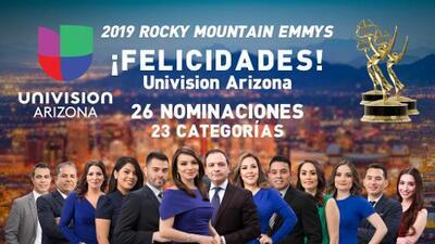 Univisión Arizona recibe 26 nominaciones a los premios Emmy