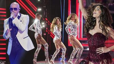 Las finalistas bailan pero Alejandra Espinoza levanta pasiones junto a Pitbull en el escenario de NBL