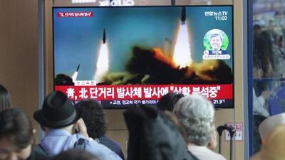 """Pyonyang dice que lanzamiento de dos misiles fue """"una demostración de fuerza"""" a Corea del Sur"""
