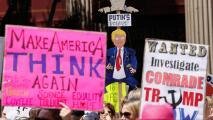 Exigen a Trump que hable de sus impuestos y de Rusia en la 'Marcha por la Verdad' en Los Ángeles