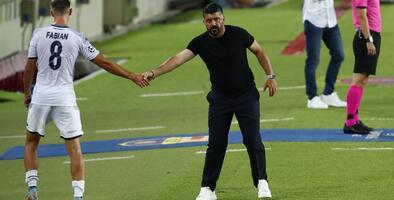 """Gattuso: """"Los 19 días de descanso del Barça no nos ayudaron"""""""
