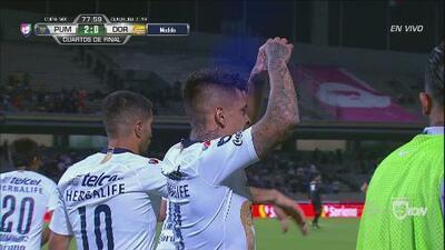 Con estos goles Pumas goleó 3-0 a Dorados y se metió a las Semifinales de Copa MX